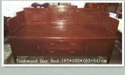 Sale Teakwood Luohan Bed, good condition, free