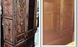Sale Teakwood Peranakan Cabinets, free delivery. We