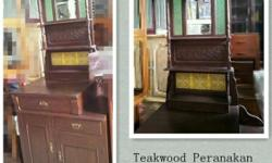 Sale Teakwood Peranakan Cabinets, good condition, free