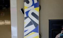This snowboard was purchased new and used for 2 weeks