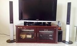 "Samsung 37"" LCD TV with Tv console and samsung home"
