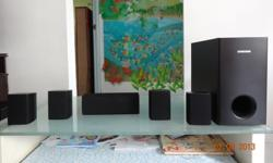 SAMSUNG 5.1 HOME CINEMA SYSTEM SPEAKERS   Comes with 2