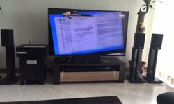 6 months old 60'' samsung HD smart tv with yamaha