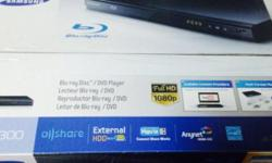 Samsung blu Ray DVD player. Open but never use before!