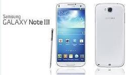 Samsung Galaxy Note 3 , 32Gb white in colour, export