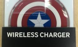 Samsung Wireless Charging Pad with the Captain American