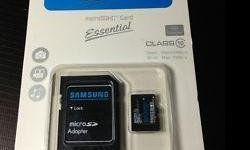 Samsung/Kingston micro SD card + SD adapter the
