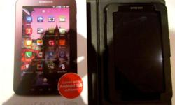 Samsung Tab 7 Inch screen with leather case & wireless