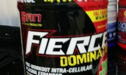 SAN Fierce domination pre workout intra cellular plasma