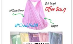 1)M size sleeping net with head-cover $10.9 2)L size