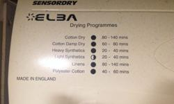 ELBA TUMBLE DRYER Type: Tumble Dryer Dryer Capacity: