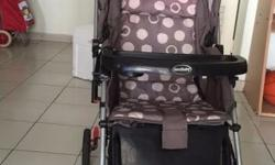 Selling baby stroller at giveaway price. Very good
