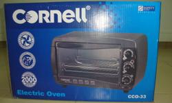 Hi,   Selling Brand New Cornell Electric Oven 26L, U.P