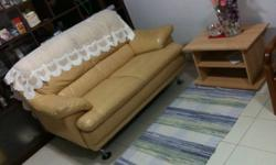 Selling Cheap : Nice Imported Half Leather 2seater Sofa