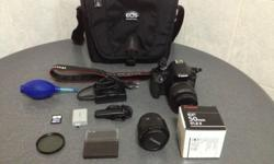 Selling used and well maintained Canon EOS 500D with 2