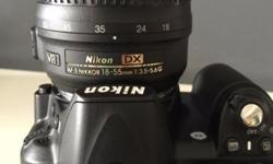 Selling Nikon D3100 camera with kit lens + 3 more lens