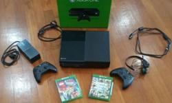 selling pre loved xbox one and comes with 2 games pre