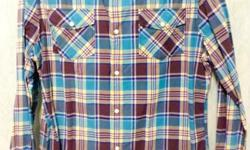 Selling my long sleeved checked shirt by RiverIsland