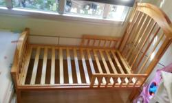 Selling used baby cot / toddler bed (with mattress) @