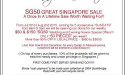 SG$50 GREAT SINGAPORE SALE A Once In A Lifetime Sale