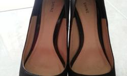 SHINE Black High Heels Size 35 Simple and elegant to