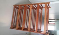 Six-tier wooden shoe rack for sale. Can put 3 pairs of