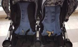 Side-by-side Combi Original Twin Stroller in excellent