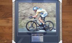 Original, authentic, framed, signed photograph of Lance