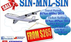 "Here got the SALE..!!! ""SIN-MNL-SIN from $265"" Travel"