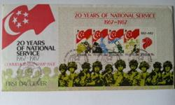 Singapore First Day Cover on 20 Years of National
