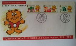 Singapore First Day Cover on 10th National Courtesy