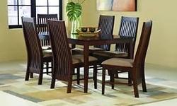 Teak Dining Table and Teak Chairs, Teak Dining Table
