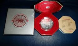 Singapore Mint 2 oz Lunar Year $10 Silver Proof Coin