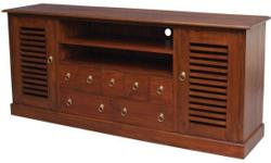 Singapore Teak TV Console Sideboard Cabinet Low