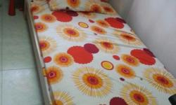 Single bed with mattress good as new Price nego. No