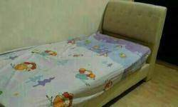 3 units of imported cream color bedframe for SALE. Used
