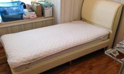 Single Bed Frame in Cream Colour, used for only a year