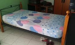 Single bed frame with mattress only $ 75