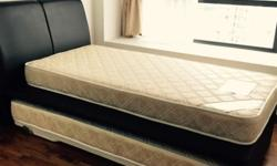 - Super single bed with mattress + Bottom roller