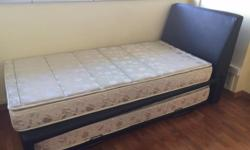 Single bed with pullout bed and 2 mattresses. Size is a
