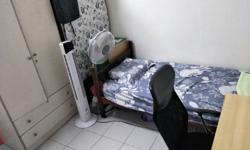 Spacious single room separated from common room with
