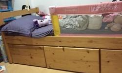 Seahorse single wooden bed with 3 big drawers. Other