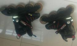 Skates with prowell Helmet and Gaurds ( elbow, knee and