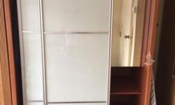 Sliding glass door wardrobe (used) Length- 1175 depth