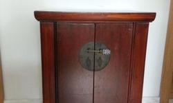 Small Chinese style cupboard with two little doors,