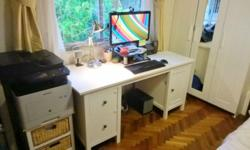 Smart White IKEA Desk. $240. There is lots of room to