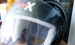 SMX Helmet L Size Color Black Not much scratch on the