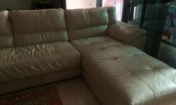 L shaped leather sofa bought from cellini. 2yrs back