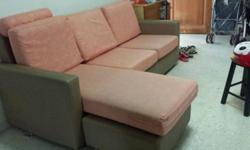 Hecom L shaped sofa ( 3 seater, with 2 sets of