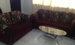 Sofa set - not much used, comfortable and nice fabrics,